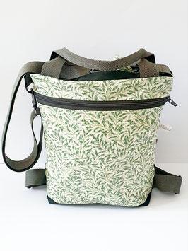 3in1 Bag Gösse M Oilskin/Wachstuch Olivia vert