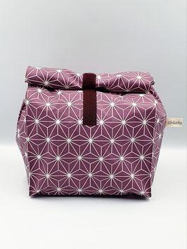 Lunch Bag gross / Utensilio Geometric Stars mauve