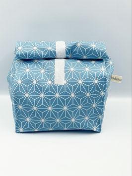 Lunch Bag gross / Utensilio Geometric Stars türkis