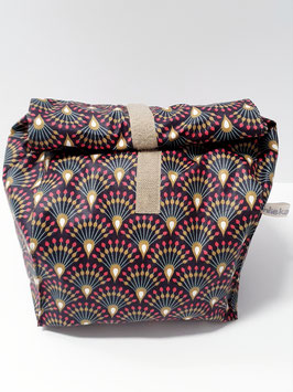 Lunch Bag gross / Utensilio Pfauenfeder aubergine