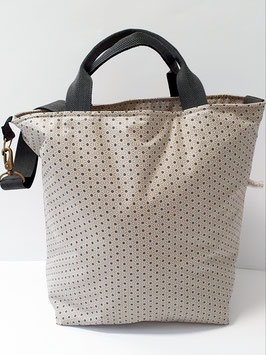 Shopper / Einkaufstasche Sternblumen beige