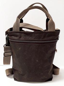 3in1 Bag Grösse M Oilskin chocolate