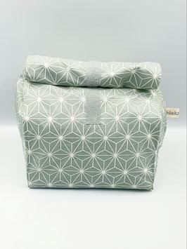 Lunchbag / Wetbag gross Geometric Stars hellmint