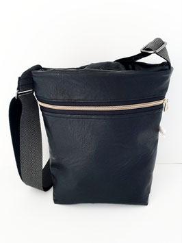 Tasche klein Kunstleder schwarz