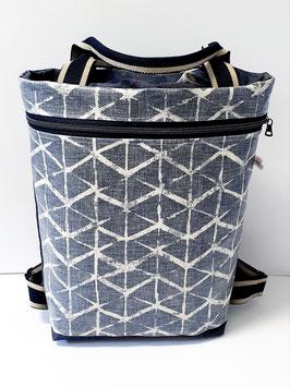 2in1 Bag Grösse L Dry Oilskin Jeans/Wachstuch