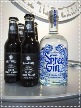 BLACK GIN TONIC / Spree Organic Gin + 3 Black Tonic Water + 1 Black Tonic Water ( for free )