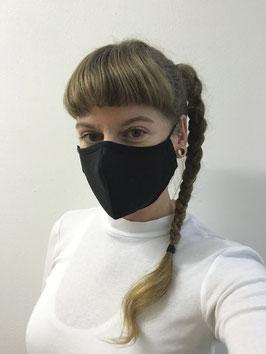 Maske mit HeiQ Viroblock®, schwarz oder weiss