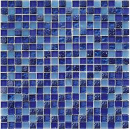 Mosaico Foglia Oro Blu