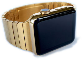 23 Karat gold plating of your Stainless Steel Apple Watch with Link Bracelet