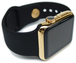 23 Karat gold plating of your Stainless Steel Apple Watch with Sport Band