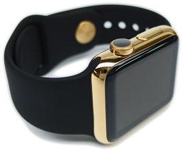 23 Karat Vergoldung Ihrer Apple Watch aus Edelstahl mit Sportarmband
