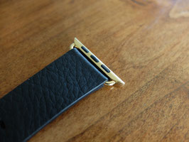 23 Karat gold plating of your Apple Watch Leather Band stainless steel details - Modern, Classic or Hermes