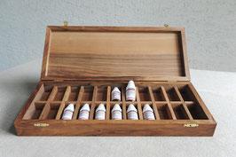 Holzschatulle - Box mit Einteilung für Globuli.