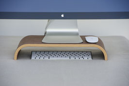 Monitorständer aus Holz, Nussbaum