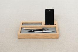 Schreibtischablage mit Handyhalter