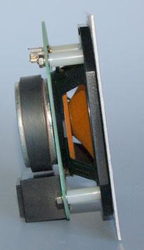 Art. nr. ELO2007 V-1 (lichtlijn) Inbouwluidspreker 1.4 en 0.7  Watt  incl. alum. plaat