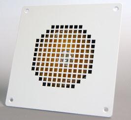 Art. nr. ELO2005 Vierkant model standaard RAL9010 (afwijkende kleuren mogelijk) afm. 176 x 176mm