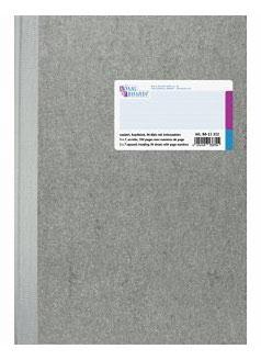 Geschäftsbuch rautiert mit Kopfleiste A4 Deckenband-Einband - K&E von Baier & Schneider