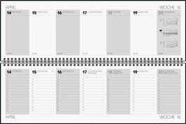 Rido Querterminkalender 2021 - Futura 5 - 42x13,7cm