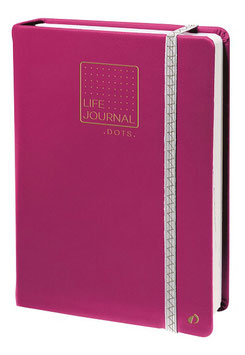 Quo Vadis Life Journal 21 DOT - 15x21cm Pflaume