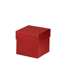 Kartonage quadratisch Rot 105x105x105mm - Boxline by Rössler 4er Satz