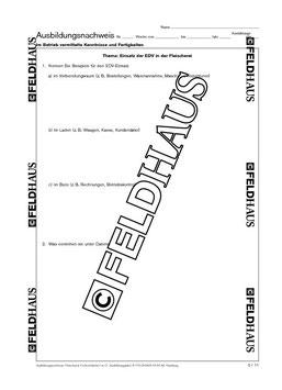 2257/1 Fleischer / Metzger 1. Lehrjahr - Berichtsheft für handwerkliche Ausbildungsberufe vom Feldhaus Verlag