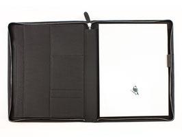 PA Schreibmappe A4 mit Reißverschluss - Derby Fashion Rind-Nappa-Leder