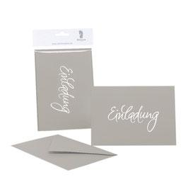 Rössler Einladung Taupe (30 Einladungskarten)
