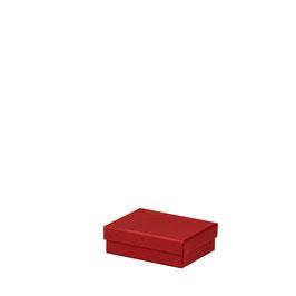 Kartonage rechteckig Rot 128x96x40mm - Boxline by Rössler 3er Satz