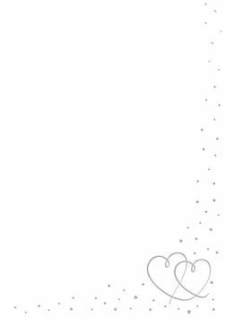 Rössler Designblätter - Herzen Silber (50 Blatt)