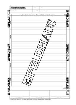 2003 Industrie & Handel - Berichtsheft für gewerbliche Ausbildungsberufe vom Feldhaus Verlag