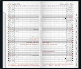 Brunnen Taschenkalender 2020 8,7x15,3cm - Modell 751