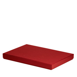 Kartonage für A4 Rot - Boxline by Rössler 4er Satz