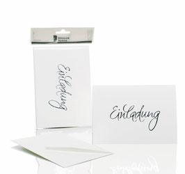 Rössler Einladung Weiß (30 Einladungskarten)