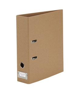 Rössler S.O.H.O. Kraft 100% Recyclingpapier - Ordner mit Einsteckschild