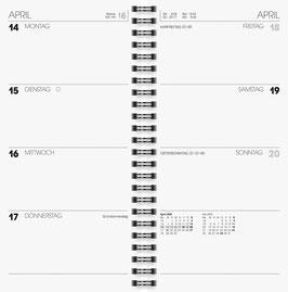 Brunnen Terminkalender 2021 10x20,7cm - Modell 780