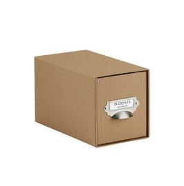 Rössler S.O.H.O. Kraft 100% Recyclingpapier - CD-Schubladenbox mit Griff