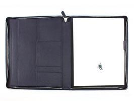 PA Schreibmappe A5 mit Reißverschluss - Derby Fashion Rind-Nappa-Leder