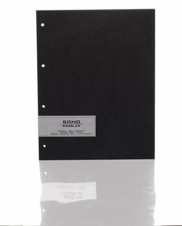 Fotokarton Schwarz 29,7x23cm - Fotothek by Rössler (Packung 20 Blatt)