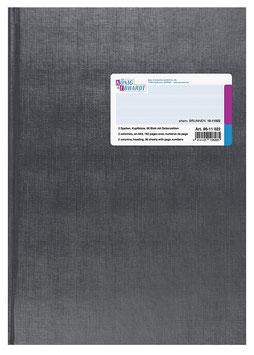 Spaltenbuch 2 Spalten mit Kopfleiste 21,6x30,4cm Deckenband-Einband - K&E von Baier & Schneider