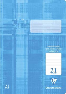 Clairefontaine Schulheft A4 Lin. 21 liniert (Packung 25 Stück)