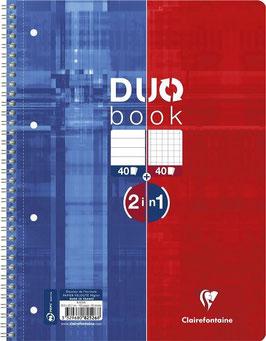 Clairefontaine DUO 2 in 1 Collegeblock DIN A4 liniert / kariert