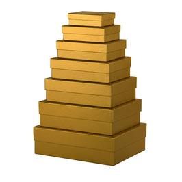 7er Kartonage Gold - Boxline by Rössler