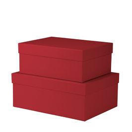 2er Kartonage Rot - Boxline by Rössler
