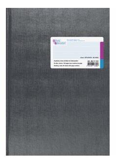 Geschäftsbuch liniert mit Kopfleiste A4 Deckenband-Einband - K&E von Baier & Schneider