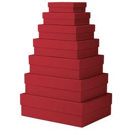 7er Kartonage Rot - Boxline by Rössler