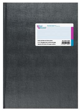 Geschäftsbuch kariert A4 Deckenband-Einband - K&E von Baier & Schneider