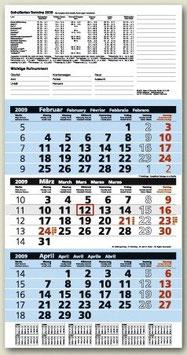 Brunnen Dreimonats-Kalender 2022