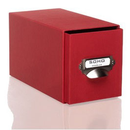 Rössler S.O.H.O. Rot - CD-Schubladenbox mit Griff