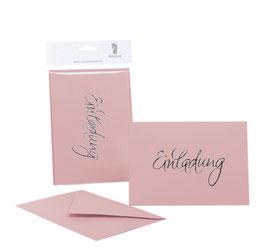 Rössler Einladung Rose (30 Einladungskarten)